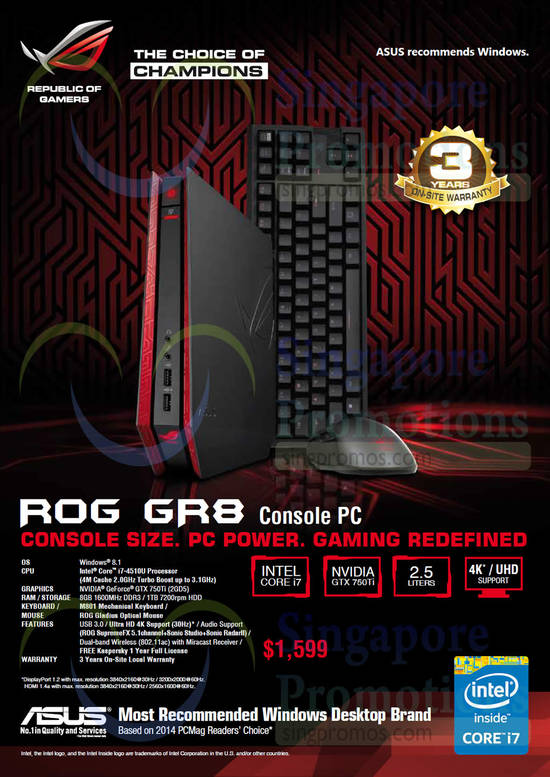 Featured image for Asus Desktop PCs, Monitors, Networking & Other Accessories Offers 11 Dec 2014