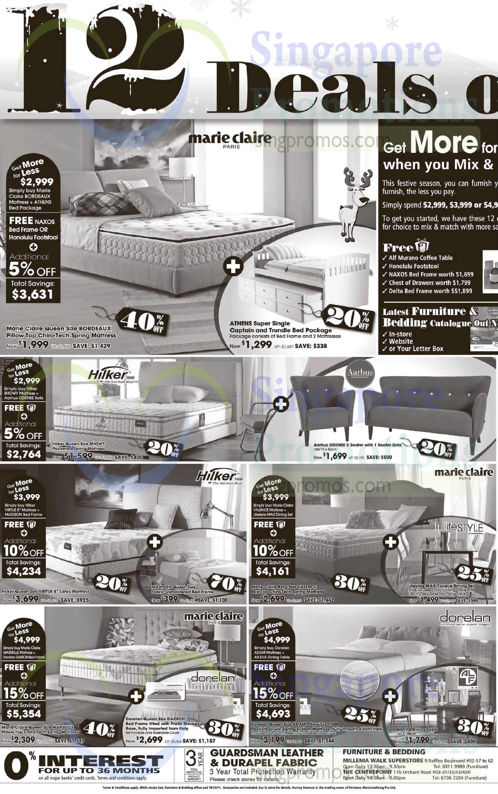 Bedding Furniture Mattresses Bed Frames Sofas Dining Table Marie Claire Hilker Aarhus Lifestyle Dorelan