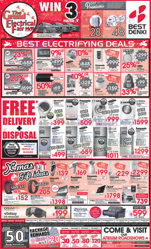 Featured image for Best Denki TV, Appliances & Other Electronics Offers 12 – 15 Dec 2014