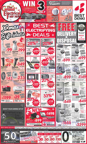Featured image for Best Denki TV, Appliances & Other Electronics Offers 19 – 22 Dec 2014