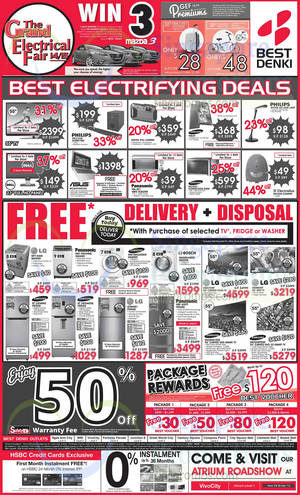 Featured image for Best Denki TV, Appliances & Other Electronics Offers 27 – 29 Dec 2014