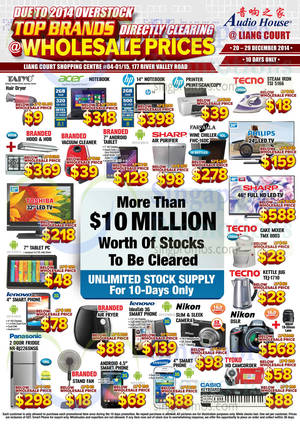 Featured image for Audio House Electronics, TV, Notebooks & Appliances Offers 20 – 29 Dec 2014