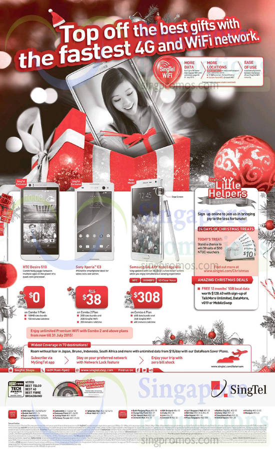 HTC Desire 510, Sony Xperia C3, Samsung Galaxy Note Edge