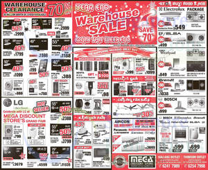 Featured image for Mega Discount Store TVs, Gas Hobs & Other Appliances Offers 13 – 14 Dec 2014