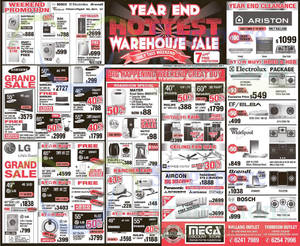 Featured image for Mega Discount Store TVs, Gas Hobs & Other Appliances Offers 27 – 28 Dec 2014