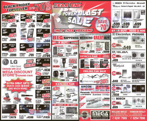 Featured image for Mega Discount Store TVs, Gas Hobs & Other Appliances Offers 6 – 7 Dec 2014