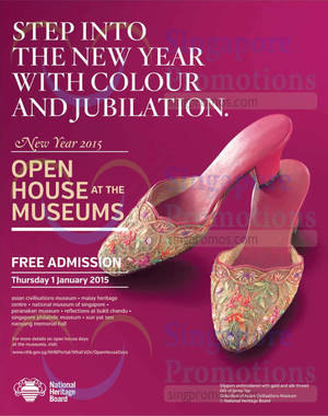 Featured image for NHB Museums Open House FREE Admission 1 Jan 2015
