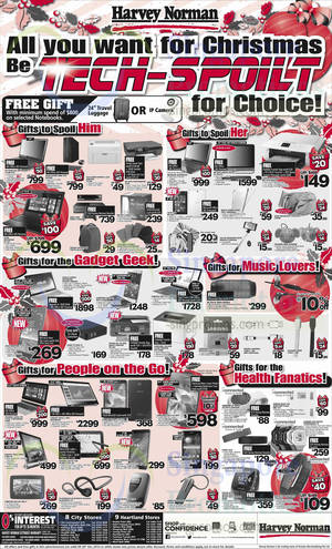 Featured image for Harvey Norman Electronics, IT, Appliances & Other Offers 20 – 26 Dec 2014