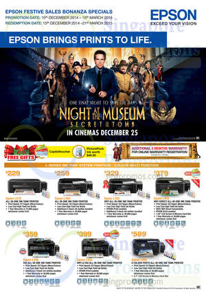 Featured image for Epson Printers, Scanners & Projectors Offers 15 Dec 2014 – 15 Mar 2015