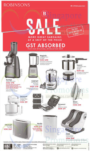 Featured image for Robinsons Sale GST Absorbed 24 – 28 Dec 2014