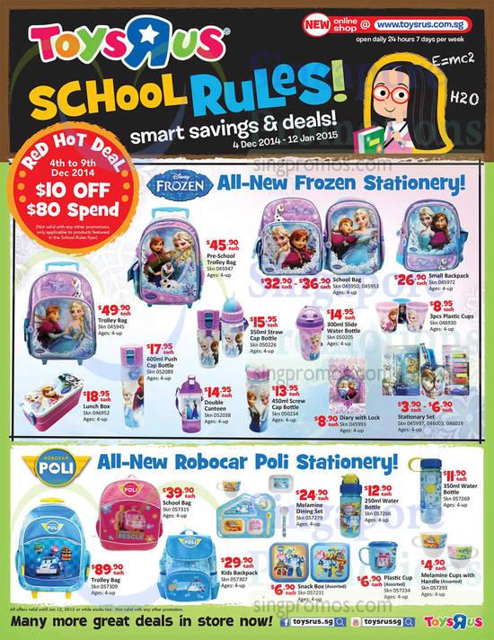 Robocar Poli Trolley Bag, Disney Frozen Trolley Bag, Disney Frozen Pre-School Trolley Bag