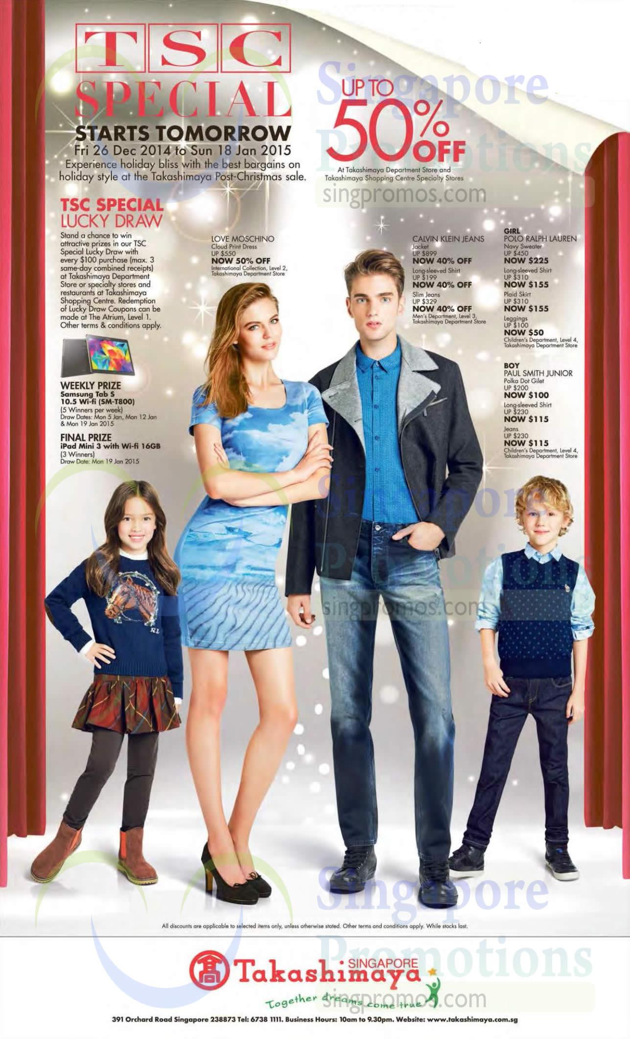 Shirts, Jeans, Jackets, Sweater, Leggings, Love Moschino, Calvin Klein Jeans, Polo Ralph Lauren, Paul Smith Junior