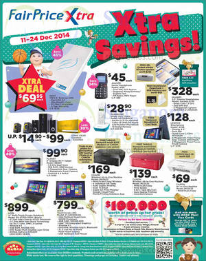 Featured image for NTUC Fairprice Electronics, Groceries, Christmas Offers & More 11 – 25 Dec 2014