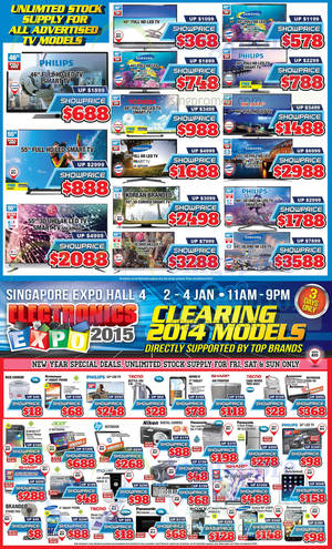 Featured image for Electronics Expo 2015 @ Singapore Expo 2 – 4 Jan 2015