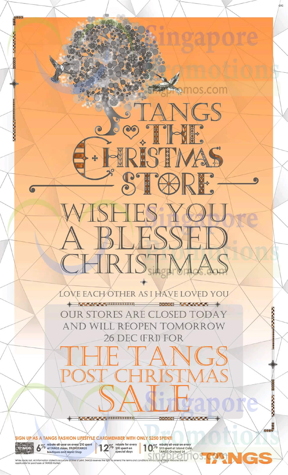 Tangs 25 dec 2014 tangs post christmas sale from 26 dec for Christmas decs sale