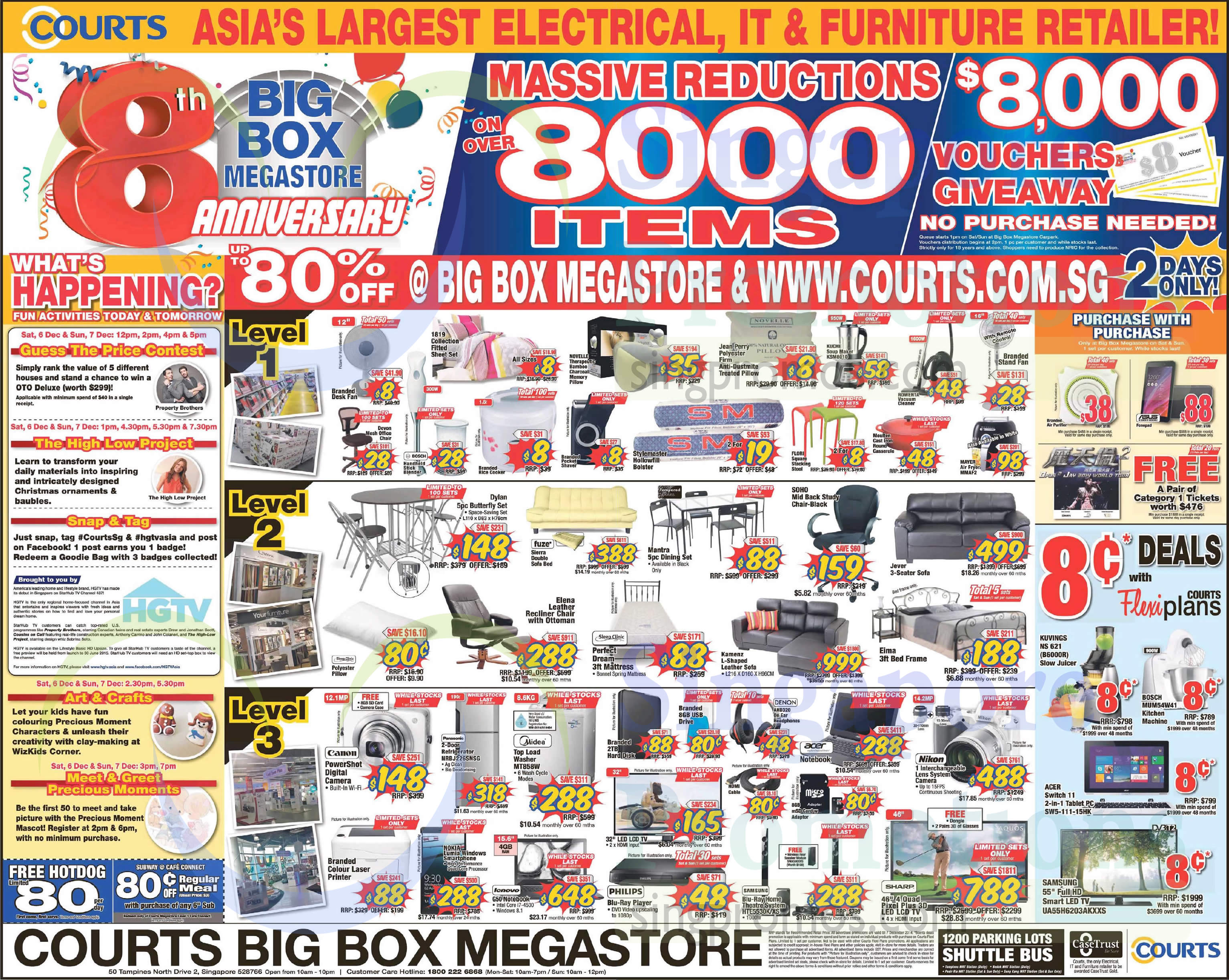 Courts Year End Sale Offers 6 – 8 Dec 2014