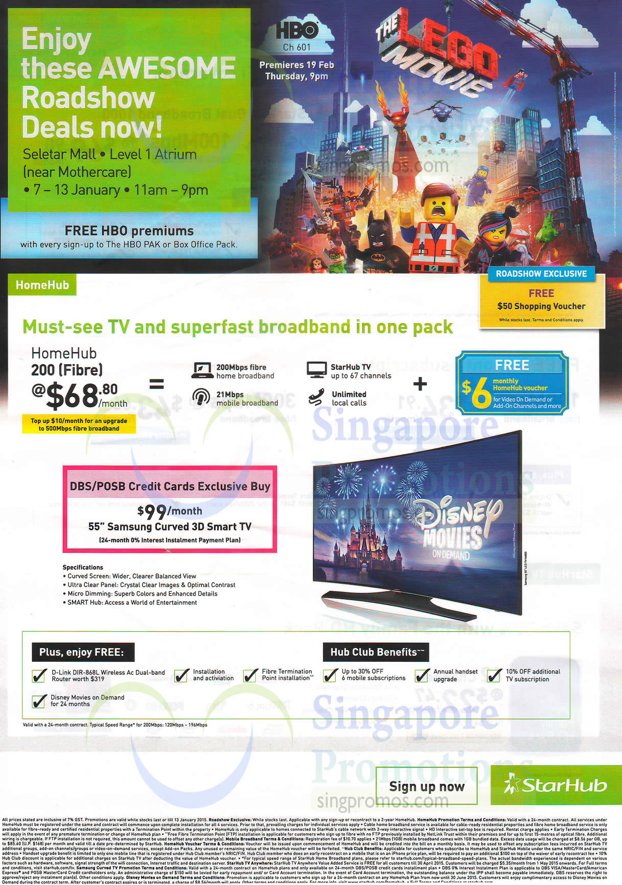 11 Jan Starhub Seletar Mall Roadshow HomeHub 200 Fibre Free HBO