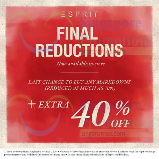23 Jan Final Reductions, Up to 70 Percent off