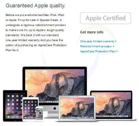 Apple Store Refurbished Tmb