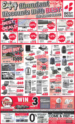 Featured image for Best Denki TV, Appliances & Other Electronics Offers 16 – 19 Jan 2015