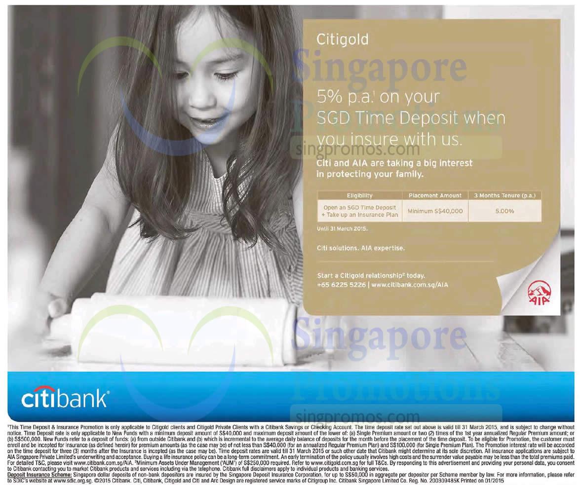 Citibank Citigold 25 Jan 2015