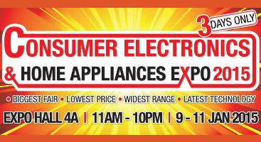 Featured image for Consumer Electronics & Home Appliances Expo @ Singapore Expo 9 - 11 Jan 2015