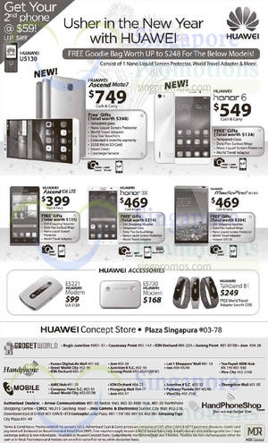 Featured image for Huawei Mobile Phone & IT Accessories Deals 10 – 16 Jan 2015