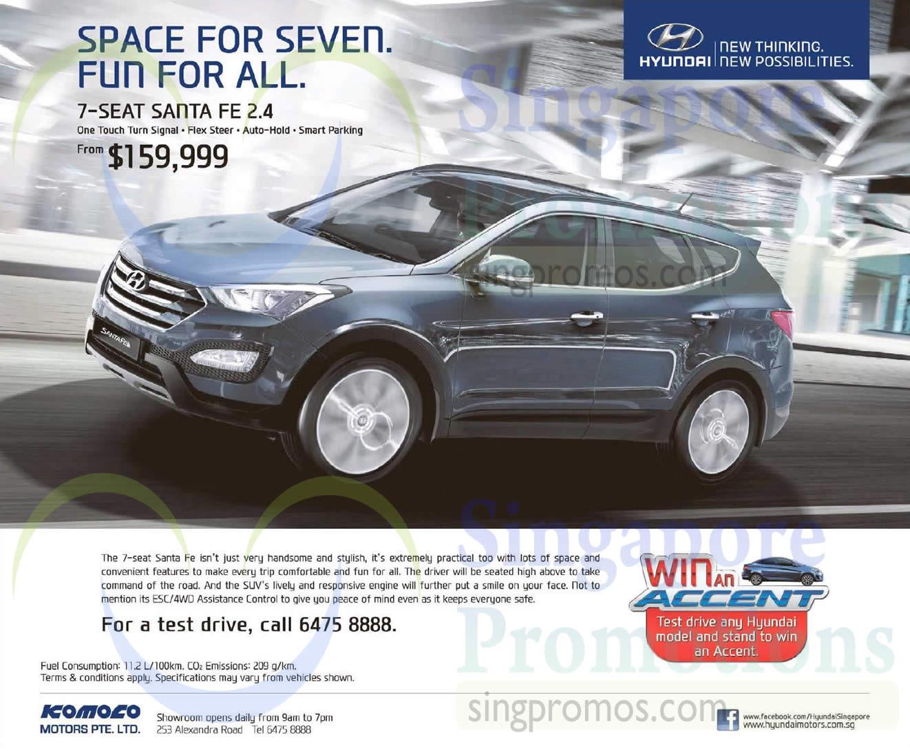 Hyundai santa fe offer 10 jan 2015 for Motor vehicle division santa fe