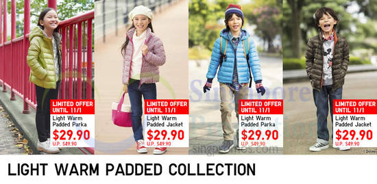 Light Warm Padded Collection Limited Offer