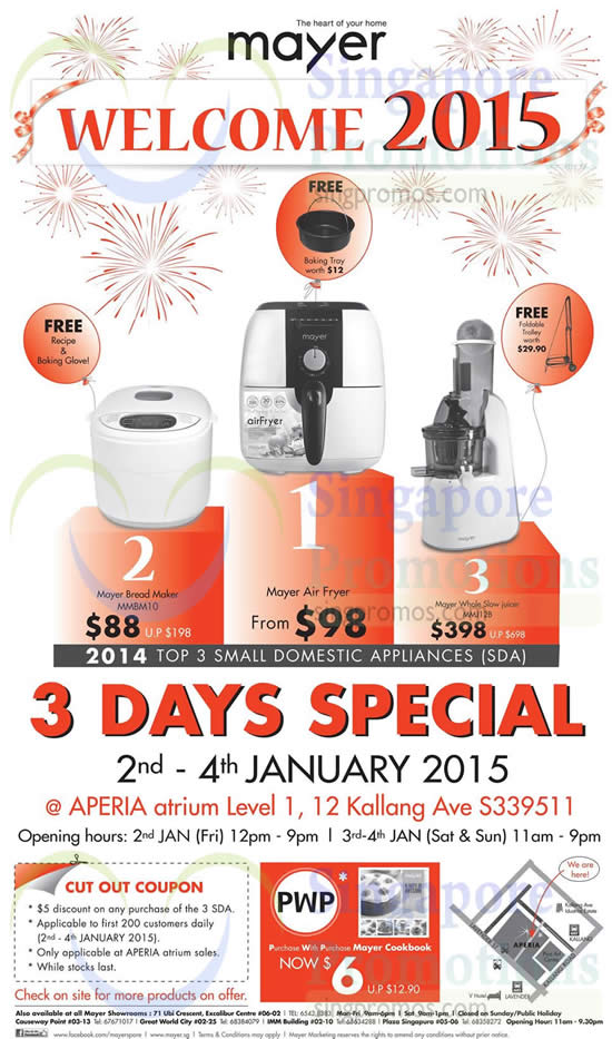 Mayer Slow Juicer Mmj12b Review : Mayer 3 Days Specials @ Aperia Mall 2 4 Jan 2015