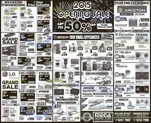 Featured image for Mega Discount Store TVs, Gas Hobs & Other Appliances Offers 3 – 4 Jan 2015