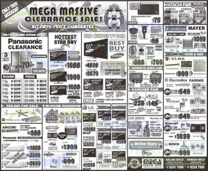 Featured image for Mega Discount Store TVs, Gas Hobs & Other Appliances Offers 31 Jan – 1 Feb 2015