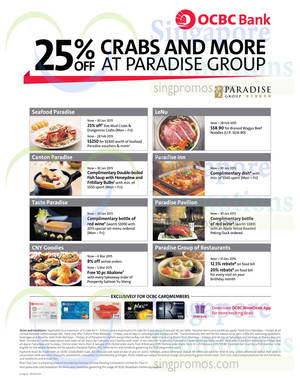 Featured image for Seafood Paradise 25% Off Crabs & More For OCBC Cardmembers 13 Jan – 28 Feb 2015