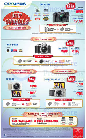 Featured image for Olympus Digital Camera Offers 15 Jan – 28 Feb 2015