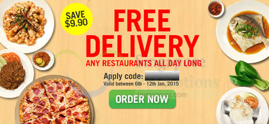 4f521265fc9283 Room Service Food Delivery FREE Delivery Coupon Code 6 – 12 Jan 2015