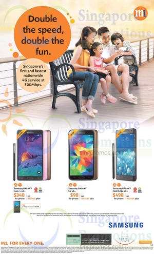 Featured image for M1 Smartphones, Tablets & Home/Mobile Broadband Offers 10 – 16 Jan 2015