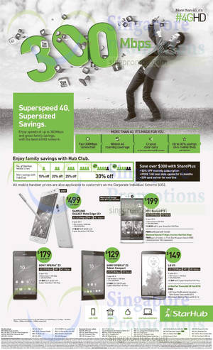 Featured image for Starhub Smartphones, Tablets, Cable TV & Broadband Offers 3 – 9 Jan 2015
