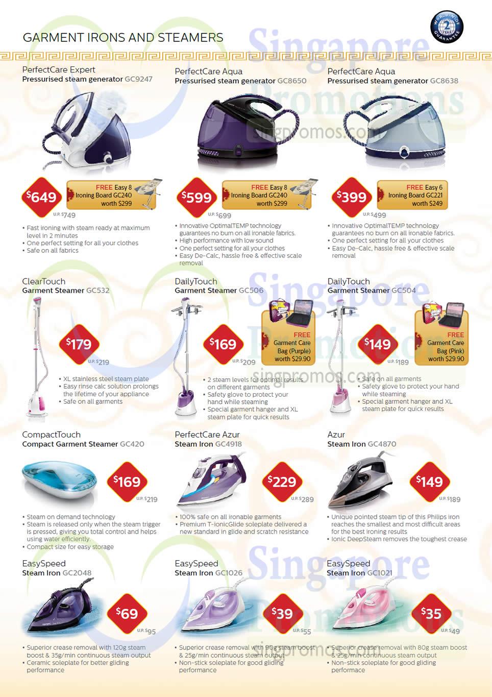 Steam Generators Garment Steamers Irons Gc9247 Gc8650 Philips Steamer Gc504 Gc506 Gc2048