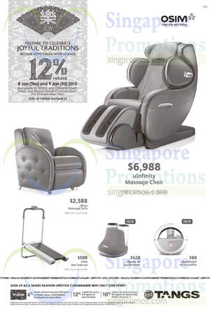 Featured image for Osim Offers @ Tangs Orchard 8 – 9 Jan 2015