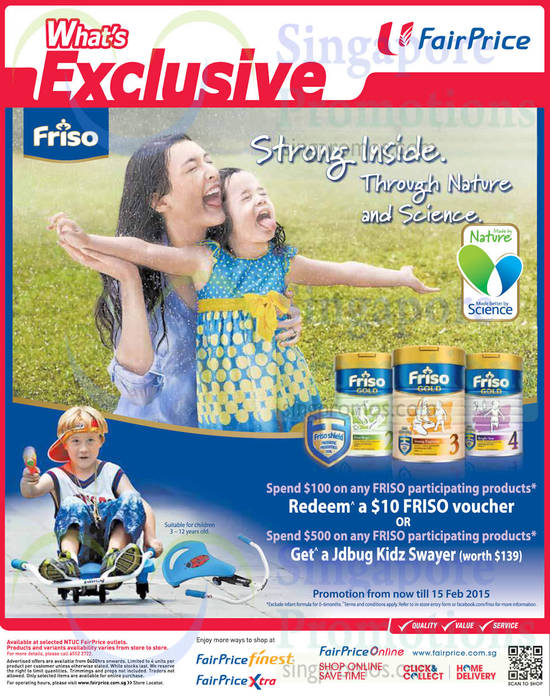 (Till 15 Jan) Friso Milk Powder Promotion, Friso Voucher, Jdbug Kidz Swayer