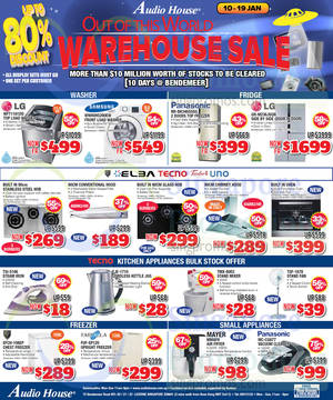 Featured image for Audio House Electronics, TV, Notebooks & Appliances Offers @ Bendemeer 10 Jan – 2 Feb 2015