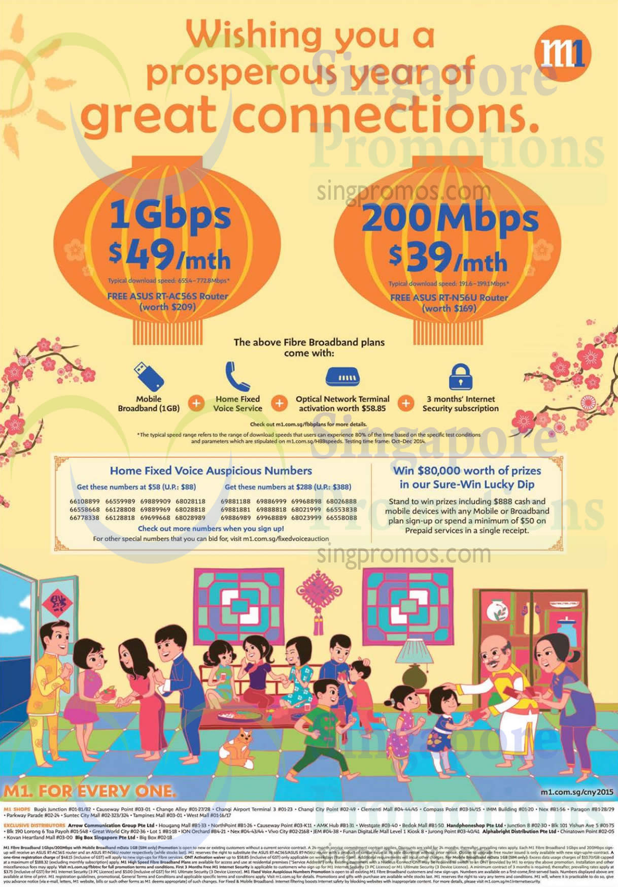 49 00 1Gbps  39 00 200Mbps, Sure-Win Lucky Dip, Auspicious Numbers