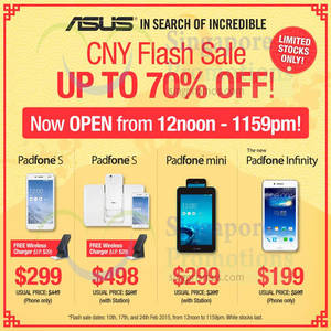 Featured image for ASUS PadFones Online Flash Sale (Tuesdays) 10 – 24 Feb 2015