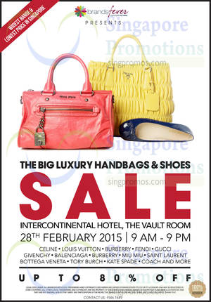 Brandsfever Handbags   Footwear Sale   Intercontinental Hotel 28 Feb 2015 efcc2c334ec29