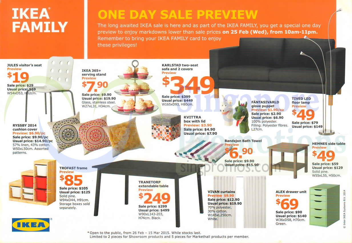 Ikea sale 26 feb 15 mar 2015 for Coupon mobile ikea