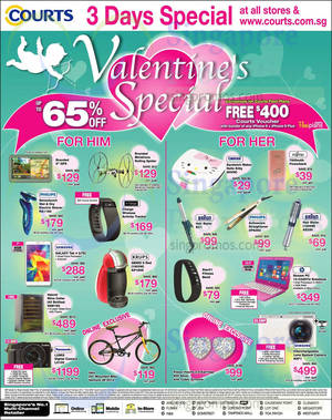 Featured image for Courts Valentine's Day 3 Days Special Offers 6 – 8 Feb 2015