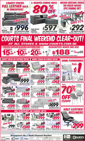 Featured image for Courts Final Weekend Clearout Offers 28 Feb – 1 Mar 2015