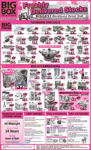 Featured image for Big Box Electronics, Groceries, CNY Activities & Other Offers 14 – 20 Feb 2015