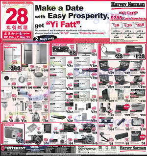 Featured image for Harvey Norman Electronics, IT, Appliances & Other Offers 28 Feb – 1 Mar 2015