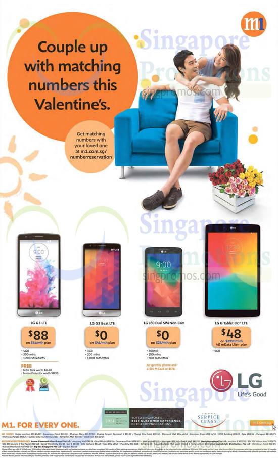 LG G3, LG G3 Beat, LG L60 Dual, LG G Tablet 8.0